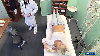 Horny patient Lilith would not go home until her doctor fucked her