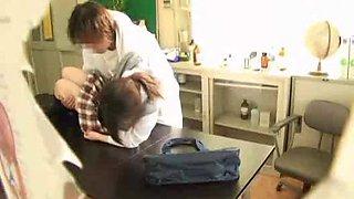Doctor and sleep schoolgirl