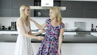 Blonde BFFs Share a huge BBC
