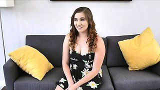 POV fucking chubby teen amateur on her first casting