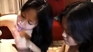 Two juicy Thai girls team up to give the perfect double BJ