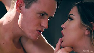 Fucking in the kitchen in front of a cuckold husband - Alina Lopez