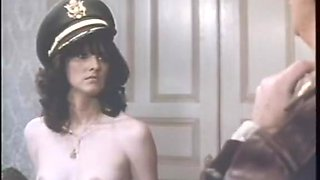 Amazing facial retro scene with Catherine Reynolds and Jesie St. James
