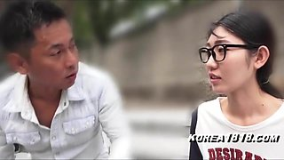 Korean Porn Girl in Glasses in Japan FucKED