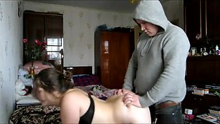 Russian boy fuck girl when her grandmother at home
