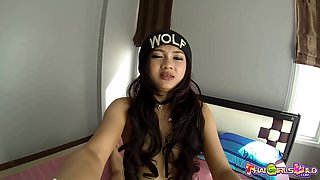 Cool Thai teen Monkey goes wild on a big foreigner's dick