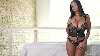 Stunning brunette Ava Addams wears nice lingerie during a fuck