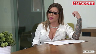 SCAM ANGELS - Valentina, Karma & Athena Scamming The Boss