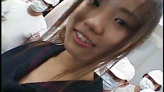 Milky Princess 17 High School Bukkake Facials