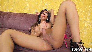 Pecker handles a seductive booty brunette ts nicole lalissa