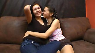 Brazilians Lesbian Babes Giving A Kiss
