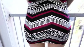 Pov clothed teen spermed