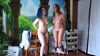 Two lovely amateur teens sharing their passion for bondage