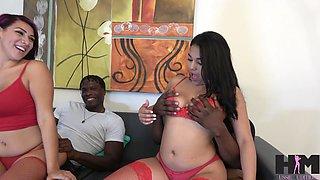 Two big black guys bang PAWGs Valentina Jewels and Julz Gotti