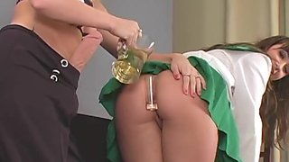 Unusual girls screw the biggest strap-ons and spray jizz all over