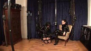 German Mastix Silvia trains her sissy maid
