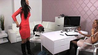 Handcuffed spanked and fucked