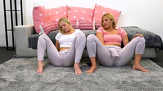CamSoda - Blonde babes in leggings finger and squirt