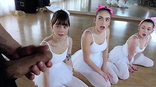 Innocent shy young teen Ballerinas