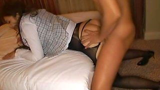 She likes her sexy lingerie and group fucking