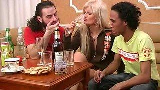 Drunk teen blonde anal sex