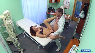 Male doctor has a huge dick just right for this teen beauty