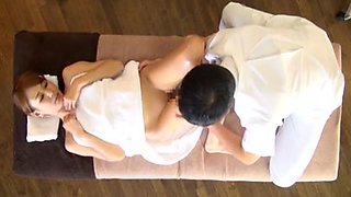 Beautiful wife was seduced with a massage
