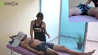 Big breasted amateur masseuse knows how to tease and please