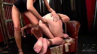 Filthy blonde Clara G. dominates over Tiffany Doll