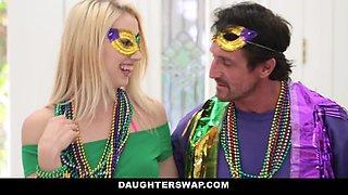 daughterSwap Tricking & Fucking dads During Mardi-Gras