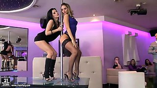 Behind the scenes camera with fantastical Aleska Diamond and Aletta Ocean