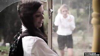School girls forced