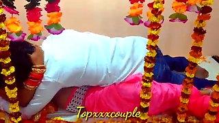 Indian desi hot couple – Suhagrat, first night, hard sex