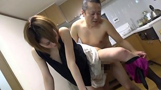 Housewife Kimijima Mio having amazing sex in the kitchen