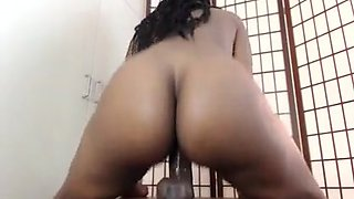 Sexy Ebony Dildo Ride Until She Cums