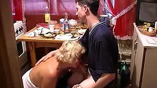 Bulky granny gets nailed by a young guy