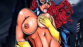 Big tits and titjob of famous toons