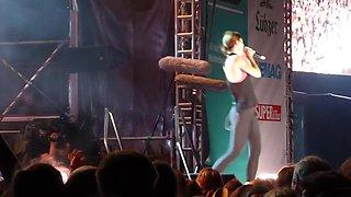 Lena meyer-landrut sperm in nose cameltoe pussy ass on stage