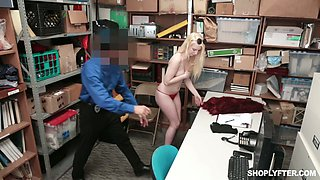 Nasty arrested blonde Darcie Belle is fucked and punished for stealing