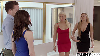TUSHY Two Latina's Have Hot Anal Sex With American