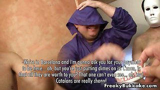 Filthy Spanish whore gets covered part6