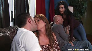 Milfs Kianna Dior and Shay Sights in foursome fuck