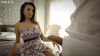 Sweet cougar Alyssia Kent drops her dress for passionate sex