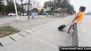Traveler Fucks a Filipina Flight Attendant!