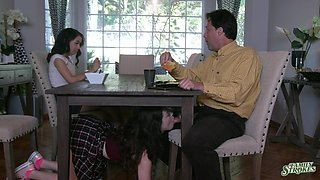 Wild FFM threesome with cock hungry teens Jackie Rogen & Aliya Brynn