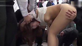 grope girl on train bus and fuck teacher big tits on school