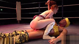 FAKEhub Originals Teen Machine Vs Bulldozer in wild and crazy wrestling