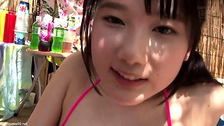 Exciting Japanese girls sharing their lust for cock outside