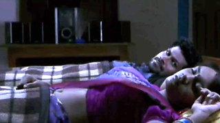 Hot Bhargavi Aunty Erotic Navel Play Romance