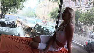Hot Cherry Kiss Takes it Doggy Style in Public